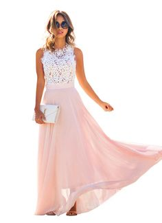 Doreen Women's Vintage Chiffon Dresses Formal Prom Evening Party Gown Engagement Bridesmaids Wedding Dress at Amazon Women's Clothing store:  $14.49