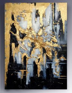 Oil Painting, Original Oil Painting Abstract Modern On Canvas Large Wall Handmade Art by Victoria's Art Design Abstract Painting Techniques, Canvas Painting Landscape, Oil Painting Abstract, Abstract Art, Victoria Art, Gold Leaf Art, Oil Painting Flowers, Art Moderne, Art Abstrait