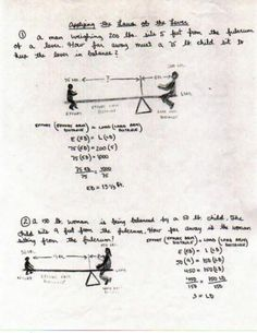 Mechanics - The Law of the Lever