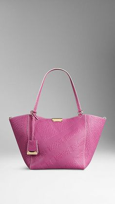 0391e7be17 Light Magenta Pink The Small Canter in Bonded Leather from Burberry - A tote  bag in