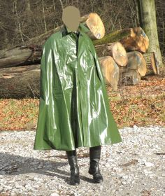 Regencape NEU weit XL 125 Regen Umhang Poncho Pelerine Regenmantel PVC Lackcape in Kleidung & Accessoires, Herrenmode, Jacken & Mäntel   eBay