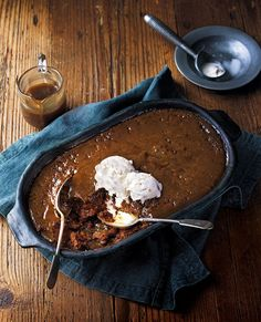 This seriously is one of the best sticky toffee pudding recipes you will ever taste. It goes wonderfully with our toasted nut and demerara ice cream (link to recipe below). British Desserts, Tolle Desserts, Just Desserts, Baking Recipes, Cake Recipes, Dessert Recipes, Baking Pan, Sticky Toffee Pudding Cake, British Pudding