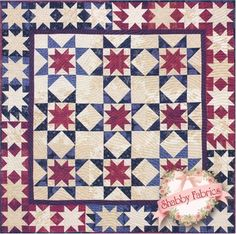 Star Celebration - Alex Anderson quilt 50, blue, star celebr, pattern includ