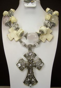 WESTERN CROSS COWGIRL White Chunky by CayaCowgirlCreations on Etsy