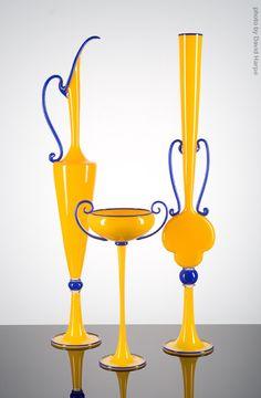 Yellow Trio with Cobalt by Danti Marioni | Marta Hewett Gallery