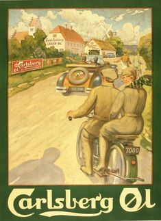 Vintage Carlsberg beer advertisement