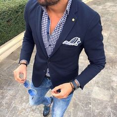 Blazer with denim outfit at wedding