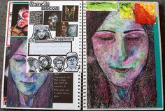 A level art sketchbook, sketchbook layout, textiles sketchbook, sketchbook inspirat A Level Art Sketchbook, Sketchbook Layout, Textiles Sketchbook, Sketchbook Inspiration, Sketchbook Ideas, Artist Research Page, Art Diary, Identity Art, Ap Art