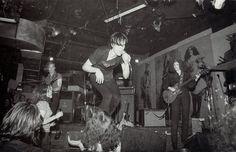The Cramps at CBGB's Punk Magazine Benefit gig, photo Roberta Bayley, May 1977 via