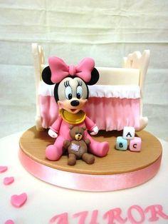 Tortas Minnie y Mickey Mouse Bolo Do Mickey Mouse, Mickey And Minnie Cake, Bolo Minnie, Theme Mickey, Mickey Cakes, Minnie Mouse Cake, Baby Cakes, Cupcake Cakes, Torta Baby Shower