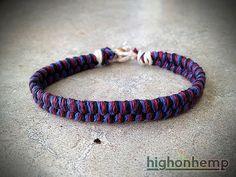 Thick Midnight Hemp Bracelet by HighonHemp on Etsy, $7.25