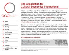 The Association for  Cultural Economics International
