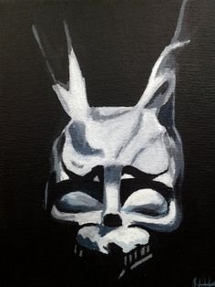 Donnie Darko Frank painting 8 X 10 by highwade on Etsy, $60.00