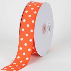 Orange and White Polka Dot Ribbon.