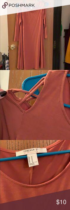 38b95de211750 NWOT Forever 21 cold shoulder dress Never worn!! Forever 21 cold shoulder  dress with