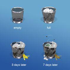 trash can getting stinky by Mac Funamizu