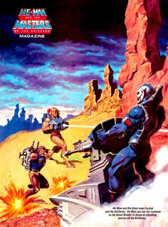 80s Masters of the Universe poster, 1986. Feat. Hordak, He-Man and Rio Blast