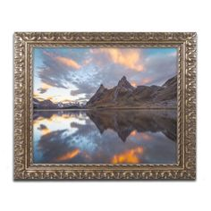 "Trademark Art ""Mountain of Fire"" by Mathieu Rivrin Framed Photographic Print Size: 1"