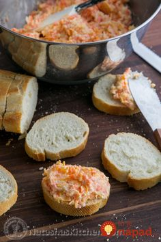 This is a party-size carrot and cheese spread recipe that will make your guests wanting more. Spread it on canapes, melt the cheese and enjoy. Sandwich Spread, Cheese Spread, Canapes, Cooking Classes, Tapas, Carrots, Sandwiches, Good Food, Brunch