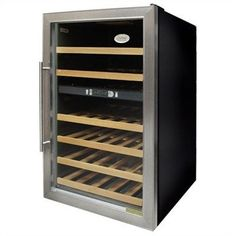 Vinotemp VT-34-2 Dual-Zone 34-Bottle Wine Chiller, Stainless Steel by Vinotemp. $666.99. Vinotemp VT-34-2 Stainless Steel Dual Zone (34) Bottle wine cooler.  This unit is ideal when starting your collection. This wine cooling unit allows you to accurately control the temperature of your wine with two zones for red and white that can be set individually.  This unit is free standing and can be placed in the house such as your kitchen, bar, living room or dining room are...