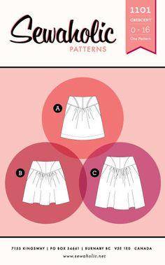 Sewaholic Patterns Crescent Skirt