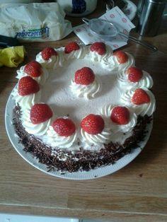 Chocolade aardbeien taart!