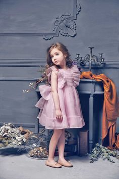 Nellystella Mae Dress Lavendar Herb // PoppysCloset.com #flower #girl #dress