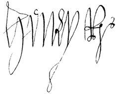 Henry VIII signature