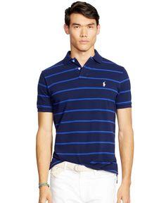 Polo Ralph Lauren Classic-Fit Striped Mesh Polo Shirt