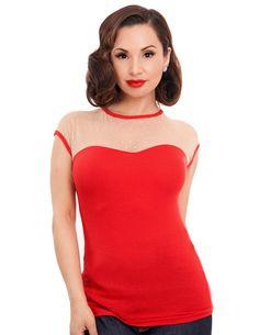 Red Vintage Miss Fancy Top