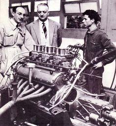 f1 1953-Enzo-Maranello banc moteur