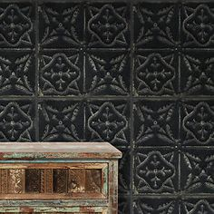 Exclusive High Quality Brooklyn Loft Style Tin Tile Wallpaper in Black White | eBay