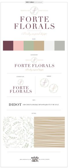 Forte Florals Logo Design and Branding — 23&9 Creative