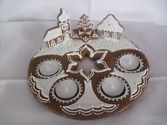 Gingerbread Advent wreaths