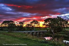 Sunset colours in Warwick #warwick #queensland #discoverthedowns