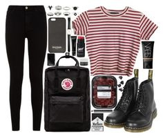 """""""you would think"""" by velvet-ears ❤ liked on Polyvore featuring Fjällräven, 7 For All Mankind, Dr. Martens, Balmain, NARS Cosmetics, Ole Mathiesen, Bobbi Brown Cosmetics, Korres, H&M and Burberry"""