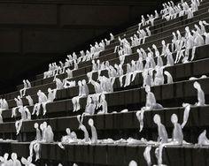 NELE AZEVEDO, MELTING MEN GENDARMENMARKT SQUARE BERLIN 2009: one thousand men. (found via  indy selvarajah)