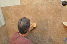 How to Tile a Bathroom, Shower Walls, Floor, Materials pics, Pro-Tips) Remodel Bathroom, Shower Remodel, Bathroom Renovations, Master Bathrooms, Small Bathroom, Bathroom Ideas, Garage Gym Flooring, Shower Walls, Tile Layout