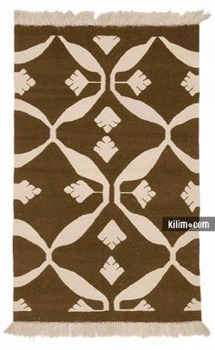 """K0008742 Beige, Black New Handwoven Turkish Kilim Rug - 3' 1"""" x 5' (37 in. x 60 in.) Living Room Accessories, Custom Rugs, Turkish Kilim Rugs, Boho Decor, Vintage Rugs, Hand Weaving, Art Pieces, Area Rugs, Quilts"""