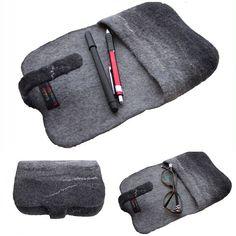 #Case on Eyeglass #giftforGrandmother #Gray Small Case, Felt Little #Handbag evening Clutch Glasses Case Felt cover #Unisex #Gift #etsy #melmetexil