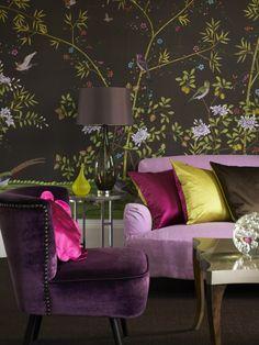 Velvet, Plum, Wallpaper South Shore Decorating Blog: Designer: Katrin Cargill