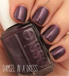 Essie Winter 2008 Collection Essie color…Damsel in a Dress. Great purple color for the winter. Essie Nail Polish, Nail Polish Colors, Nail Polish Designs, Nail Art Designs, Toe Nail Color, Nail Polishes, Love Nails, How To Do Nails, Pretty Nails