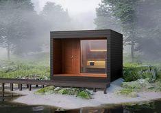 Scandinavian Saunas, Modern Saunas, Building A Sauna, Sauna Kits, Steel Framing, Sauna House, Outdoor Sauna, Sauna Design, Exterior Cladding