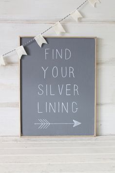 Rustic Wood SignFind Your Silver Lining by cityfarmhouse on Etsy, $47.00