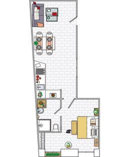 Planta 45 m2