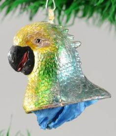 Irridescent Parrot Head Candy Container