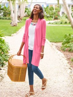 c60c92c5c4 An elegant layer for lightweight warmth. Our pure pima cotton duster is an  elongating silhouette