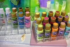 Storage Ideas for Acrylic Paints two acrylic stadium organizers for paint bottles