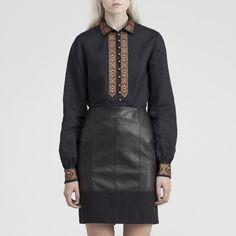 Lovia Aino Shirt 100% hemp Hemp, Leather Skirt, Ready To Wear, Skirts, How To Wear, Fashion, Moda, Leather Skirts, Skirt