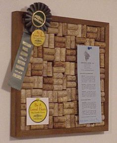 Wine cork board I am making once I collect all of these corks!